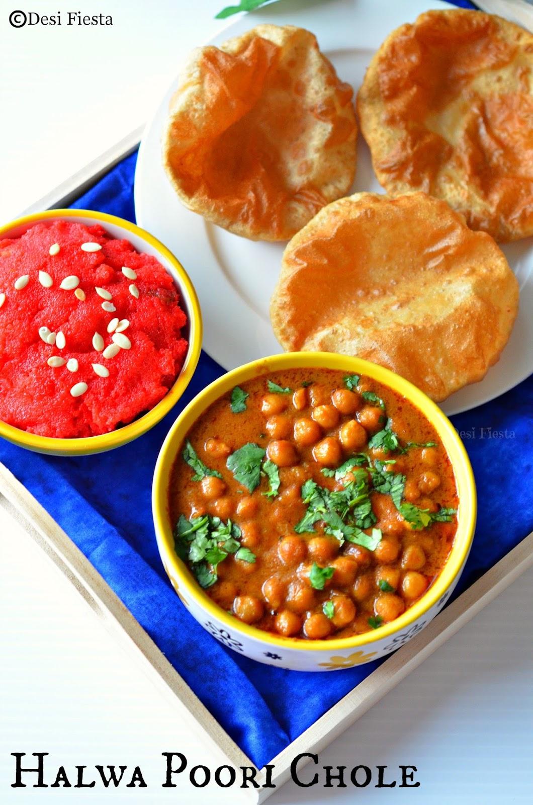 Poori Curry Halwa Poori Chole | Br...
